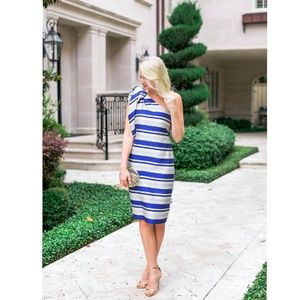 NWT Banana Republic One Shoulder Striped Dress